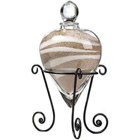 Cerimonia di nozze Cuore elegante a forma di vetro Unità di sabbia Vaso