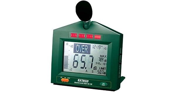 Extech SL130W Schallpegelmessger/ät mit Alarm gr/ün