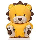 PANDANA® Zaino per bambini Lenny Lion con cinturino pettorale per ragazzi e ragazze all'asilo o all'asilo nido per bambini dai 3 ai 5 anni, realizzato in neoprene isolante con sistema anti-perdita