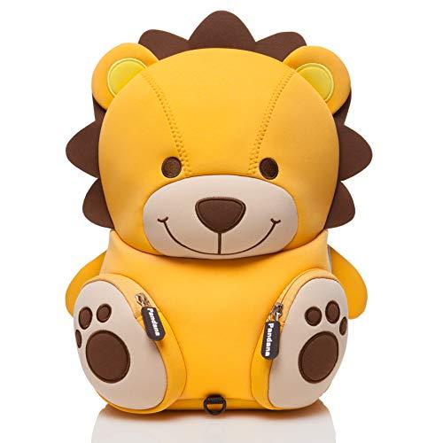 Pandana® Kinderrucksack Lenny Löwe mit Brustgurt für Jungen und Mädchen im Kindergarten oder Kita für 2 bis 5-Jährige, aus isolierendem Neopren mit Anti-Lost-System -