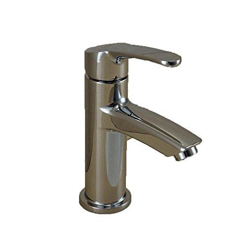 HTYQ tutto il rame rubinetto del bacino caldi e freddi singola maniglia singolo foro sotto il lavabo Bacino rubinetto