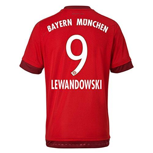 Trikot Adidas FC Bayern München 2015-2016 Home (Lewandowski 9, XL Boys 32-34