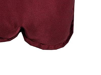 Meerweh Bankauflage mit Rückenteil Sitz und Rückenkissen mit Bänder 100x98 cm Polsterauflage Gartenbank bordeaux rot von Meerweh - Gartenmöbel von Du und Dein Garten