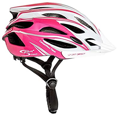 "Sport Direct ""Team Comp 24 Vent Bicycle Helmet Womens Pink 55-58cm CE EN1078:2012+A1:2012 by Sport Direct"