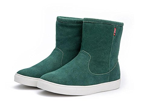 Stiefel Baumwolle Schuhe Herbst Winter schwarz Braun Wohnung Außengröße 38-45 , Green , EUR 42/ UK 8.5 (Sparkly Green Schuhe)