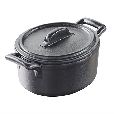 Revol dm311Cocotte avec couvercle Belle Cuisine Miniature, noir (Lot de 6)