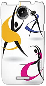 Timpax protective Armor Hard Bumper Back Case Cover. Multicolor printed on 3 Dimensional case with latest & finest graphic design art. Compatible with HTC one X+ ( Plus ) Design No : TDZ-28138