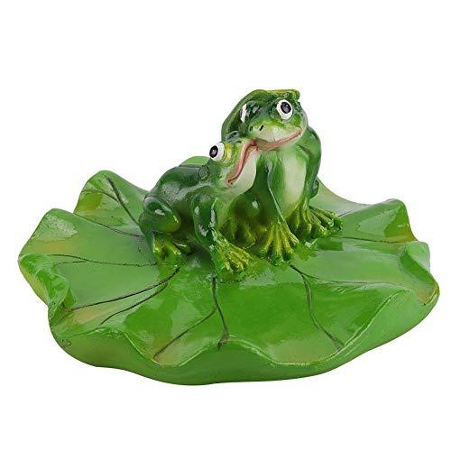 Duokon Schwimmbad Teich Schwimmende Tier Badewanne Garten Dekor Figur Künstliche Pad Realistische Lotus Ungiftig Schwimmende Wassermatte für Hausgarten Teich Aquarium -