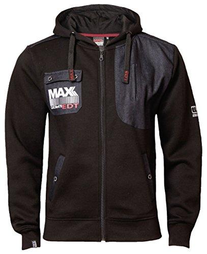 Max Edition Herren Kapuzenpullover Sweatshirt mit Kapuze MSW 14 NEW Schwarz