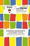 mindmemo Vokabel Sticker - Grundwortschatz Deutsch DaF / Englisch - 280 Vokabel Aufkleber für Kinder Erwachsene Deutsch lernen leicht gemacht Lernhilfe Lernsticker Sprachsticker Learning German