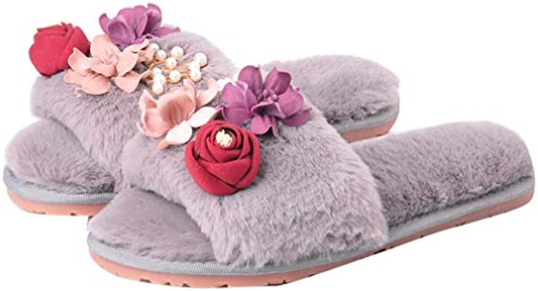 YUCH Chaussures De Pantoufles des Femmes De De De Fleurs Fond Épais Antidérapantes Intérieure Chaussures ParesseusesB07J3JHKC3Parent 95de82