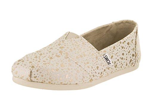 TOMS Classic Größe 38 Weiß (gold foil) (Toms-frauen-weiß Schuhe)