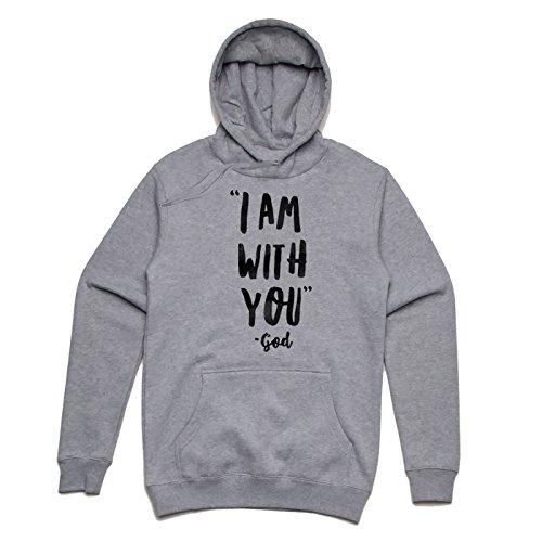 I am with you GOD Unisex Hoodie Grau