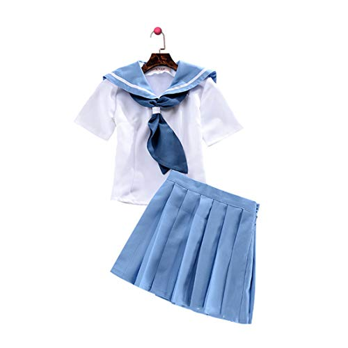 YKJ Cosplay Kostüm Uniform Sailor Kostüm Cosplay Kostüm Set Frauen Dress Up Party Cosplay Cartoon Dance Kostüm,Full Set-S
