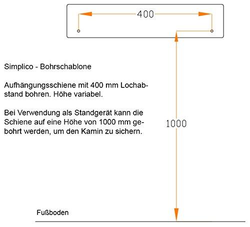 bergamo Simplico Ethanolkamin: Standkamin – Weiß - 3