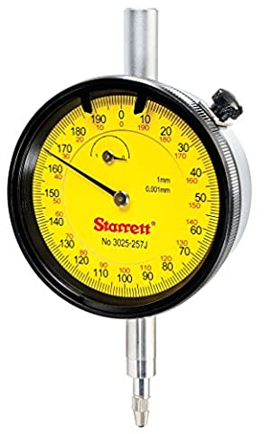 Starrett 3025–257j Cadran Indicateur Gamme: 1mm, cadran lecture: 0–200