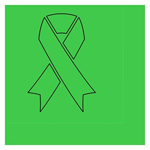 E GREEN RIBBON BEVERAGE NAPKIN (16/PKG) by Partypro (Green Awareness Ribbon)