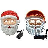 Bambini Natale Babbo Natale LED Light Up Mask Halloween El Wire  Lampeggiante Maschera per Il Partito 537292e39b10