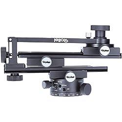Rollei Panoramic Head 200 Mark II - Tête de trépied pour prises de vue panoramiques multilignes, Charge admissible 3 kg, Compatible ARCA SWISS - Noir