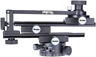 Rollei Panoramic Head 200 Mark II - Tripod head for multi row panoramic photos, Max. load of 3 kg and ARCA SWISS compatible - Black (B0778TZV26) | Amazon price tracker / tracking, Amazon price history charts, Amazon price watches, Amazon price drop alerts