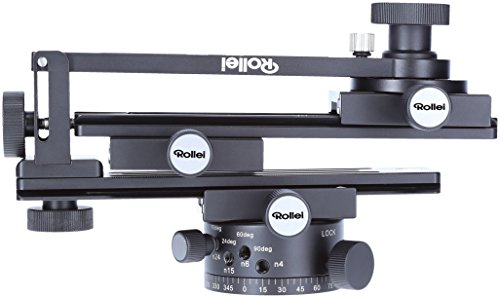 Rollei Panoramakopf 200 Mark II - 360 Grad Panoramakopf mit Transportkoffer zur sicheren Befestigung, Tragkraft bis zu 3 kg, Acra Swiss kompatibel - Schwarz