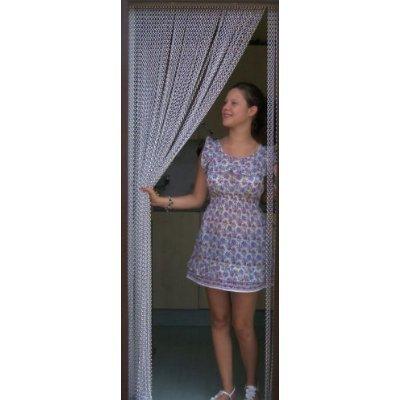Holland Plastics UK Limited- Kettenvorhang aus Aluminium/ Sichtschutz/ Insektenschutz- 100 cm breit -