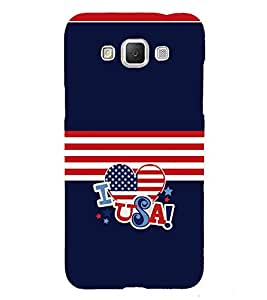 Fiobs Designer Back Case Cover for Samsung Galaxy Grand 3 :: Samsung Galaxy Grand Max G720F (I Love USA United States America Red White Blue Mobile Cover)