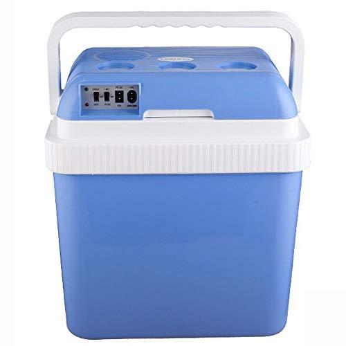 Auto Refrigerator Portatile Portatile Portatile Mini Refrigeratore 12V Scatola di Riscaldamento Dc con Maniglia di Bloccaggio Automatico E 24L Viaggio E Campeggio A Grande capacità