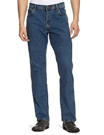 Wrangler Texas - Jeans - Droit - Homme - Bleu (Dark Stone Wash) - W33/L30 (Taille fabricant: W33/L30)
