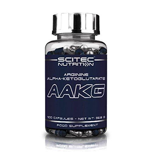 Scitec Nutrition AAKG Acide Aminé Arginine Alpha-Cétoglutarate 100 caps.