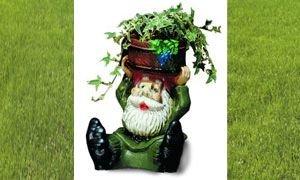 Pflanz-Zwerg sitzend 28 cm 1650 bepflanzbare Figur aus Kunststoff
