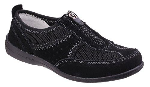 Fleet & Foster Greco Ladies Slip On Summer Shoe Noir