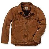 Chaqueta de trabajo modelo 101230 de Carhartt, colores marrón y negro  marrón XL