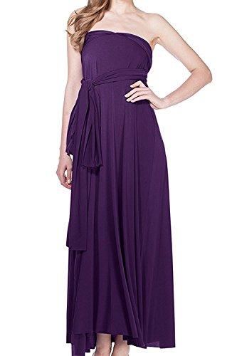 acf913a3304 Damen Frauen Multi-tragen Kreuz Halfter Abendkleid Brautjungfer Langes Kleid  Multiway-Kleid V-