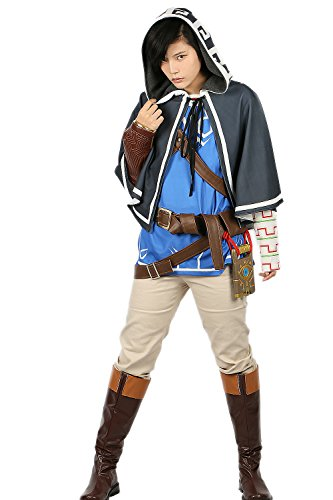 Pandacos Link Kostüm Cosplay Costume Legend of Zelda Outfit Deluxe Suit Game Zubehör für Karneval, Fasching (Legend Of Zelda Kostüm Cosplay)