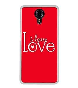 Fuson I Love You Designer Back Case Cover for Micromax Canvas Xpress 2 E313 (Love Quotes Inspiration Emotion Care Fun Funny)