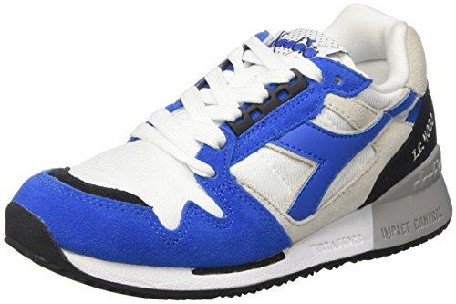 Diadora I.c 4000 Nyl Ii, Sneaker Bas du Cou Mixte Adulte Blanc Cassé (Bco/azzurro Principessa/nero)