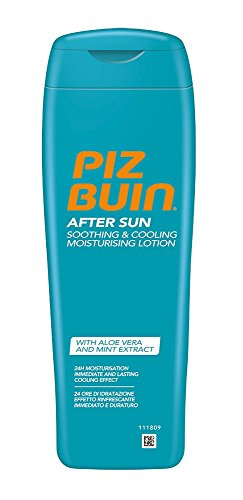 After-sun-lotion (Piz Buin After Sun Soothing und Cooling Feuchtigkeitslotion, Kühlende, hautberuhigende After Sun Lotion spendet 24h Feuchtigkeit, Für langanhaltende Bräune, Schnell einziehend, 200ml)
