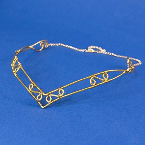 Declan elfic wire braut tiara, elfische Krone für Hochzeiten, Kostüme, Partys, LARP, Goldfarbe, Tiara und Krone, Elfenkrone