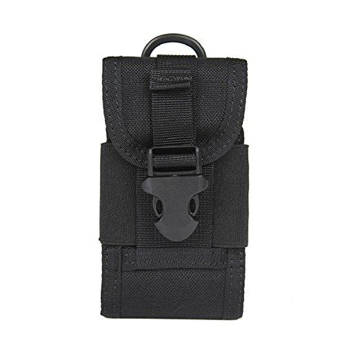 ZYT Tattico multiuso militare Camo Borsa piccola fotocamera digitale Borsa tattico telefono mobile Pocket . black Black