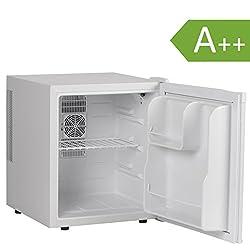 Amstyle Minikühlschrank 46 Liter Minibar Weiß freistehender Mini Kühlschrank Klein 5°-15°C Energieklasse A++ Tischkühlschrank ohne Gefrierfach für Getränke Zimmerkühlschrank 230V 46L Geräuscharm
