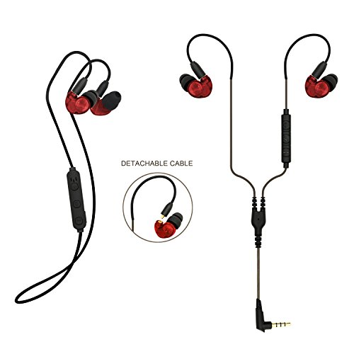 3cd54f1d44b kscat BC05 auricular con Bluetooth 4.1 auriculares in-ear kopfhöre 2 en 1  con micrófono