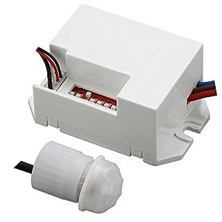 Maclean MCE32 PIR-Bewegungssensor, Bewegungsmelder 360°, Unterputz, Sensor mit Infrarot, Melder