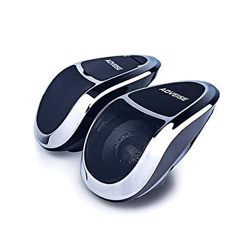 HaiQianXin 12 V Motorrad Bluetooth MP5 FM Audio Radio Sound System Stereo SUPER BASS Lautsprecher Mit Eingebautem Verstärker Wasserdicht (Color : Silver)