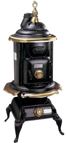 Stufa a Legna In Ghisa Dusty mod. Comfort 10 KW - peso 81 Kg - Ø42x110H cm.