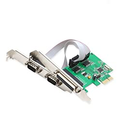 IO Crest SI-PEX50054 Low Profile PCIe x1 Controller Card (Green)