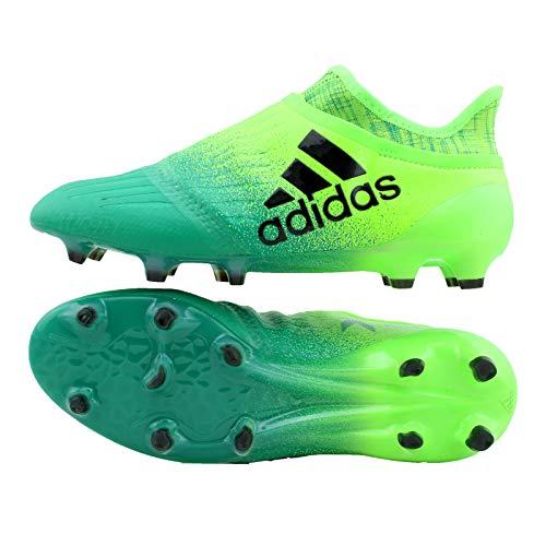 adidas Herren X 16+ Purechaos FG Fußballschuhe Grün (solar Black/core Green Yellow), 44 EU X16