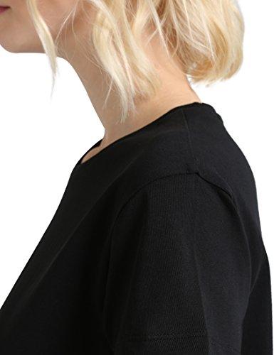 Berydale Damen T-Shirt Bd324 Mehrfarbig (Hellgrau Melange/Schwarz Hellgrau Melange/Schwarz)