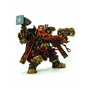 DC Comics - World Of Warcraft Figura De La Serie 6 De Enano Rey Magni Barbabronce Acción 3