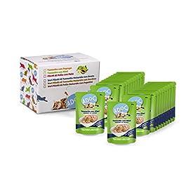 ADOC Cibo Umido per Gatti con Ingredienti Naturali al 100% al Tonno con Veri Pezzi di Kiwi – Pacco da 22 x 50 g